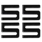 Wire Shelving S Hooks, Metal, Black, 4 Hooks/Pack ALESW59SHBL