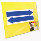 Stake Sign, Blank, Yellow, Includes Directional Arrows, 15 x 19 COS098227