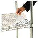Shelf Liners For Wire Shelving, Clear Plastic, 36w x 18d, 4/Pack ALESW59SL3618