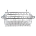 Sliding Wire Basket For Wire Shelving, 18w x 18d x 8h, Silver ALESW59WB1818SR