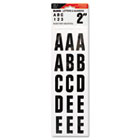 "Letters, Numbers & Symbols, Adhesive, 2"", Black COS098131"