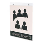 Classic Image Single-Sided Wall Sign Holder, Plastic, 8 1/2 x 11, Clear DEF68201