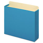 File Cabinet Pockets, Straight Cut, 1 Pocket, Letter, Blue GLWFC1524EBLU