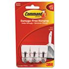 General Purpose Hooks, Small, Holds 1lb, White, 3 Hooks & 6 Strips/Pack MMM17067