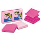 Heart Dispenser Refills, 100 3 x 3 Sheets, Assorted Pink, 6 Pads/Pack MMMR3306PNK