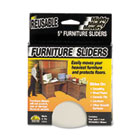 "Mighty Mighty Movers Reusable Furniture Sliders, Round, 5"" Dia., Beige, 4/Pack MAS87007"