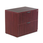 Valencia Series Two-Drawer Lateral File, 34w x 22 3/4d x 29 1/2h, Mahogany ALEVA513622MY