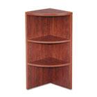 Valencia Upper End Cap Bookcase, Three-Shelf, 15w x 15d x 35-1/2h, Medium Cherry ALEVA621515MC
