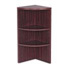Valencia Series Upper End Cap Bookcase, Three-Shelf, 15 x 15 x 35-1/2, Mahogany ALEVA621515MY