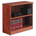 Valencia Series Bookcase, Two-Shelf, 31 3/4w x 14d x 29 1/2h, Medium Cherry ALEVA633032MC