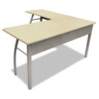 Trento Line L-Shaped Desk, 59-1/8w x 59-1/8d x 29-1/2h, Oatmeal/Gray LITTR737OAT