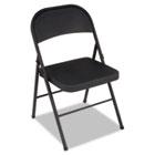 All Steel Folding Chair, Steel, 18-1/4w x 19d x 30h, Black, 4/Carton CSC1471105X