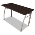 Trento Line Rectangular Desk, 47-1/4w x 23-5/8d x 29-1/2h, Mocha/Gray LITTR733MOC