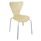Trento Line Sienna Stacking Wood Chair, Oatmeal, Stacks 8 High,  2/Carton LITTR501OAT