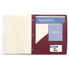 IMPACT Frosted Front Report Cover with Tall Pocket, 11 x 8-1/2, Burgundy, 5/Pack GBC71110