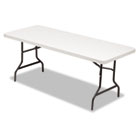 Resin Rectangular Folding Table, Square Edge, 72w x 30d x 29h, Platinum ALE65600