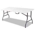6 Foot Blow Molded Centerfold Table, 72w x 30d x 29-1/4h, White CSC14678WSP1
