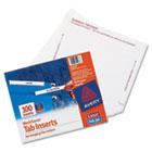 Laser/Inkjet Hanging File Folder Inserts, 1/3 Tab, 3 1/2, White, 100/Pack AVE11137