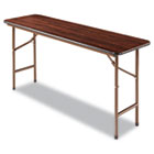 Wood Folding Table, Rectangular, 60w x 18d x 29h, Walnut ALEFT726018WA