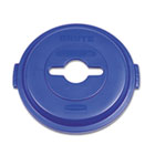 Single Stream Recycling Top for Brute 32gal Containers, Blue RCP1788380