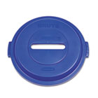 Paper Recycling Top for Brute 32gal Containers, Blue RCP1788378