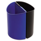 Desk-Side Recycling Receptacle, 3gal, Black and Blue SAF9927BB