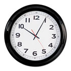 "Round Wall Clock, 18"", Black UNV10416"
