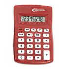 15902 Pocket Calculator, Red IVR15902