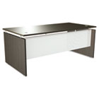 SedinaAG Series Straight Front Desk Shell, 72w x 36d x 29-1/2h, Espresso ALESE217236ES
