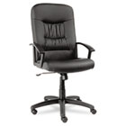 York Series High-Back Swivel/Tilt Chair, Black Leather, Closed Loop Arms ALEYK41LS10B