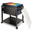 Folding Mobile File Cart, 14-1/2w x 18-1/2d x 21-3/4h, Clear/Black AVT55758