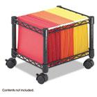 Mini Mobile Wire File Cart, Steel Wire, 15-1/2w x 14d x 12-1/2h, Black SAF5220BL