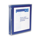 "Flexi-View Binder with Round Rings, 1"" Capacity, Navy AVE17685"