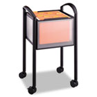 Impromptu Open File Cart, 20-1/4 x 19 x 29-3/4, Black SAF5375BL