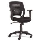 Swivel/Tilt Mesh Task Chair, Black Arms/Base, Black OIFEM4817