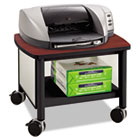 Impromptu Under Table Printer Stand, 20-1/2w x 16-1/2d x 14-1/2h, Black/Cherry SAF1862BL