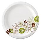 "Pathways Mediumweight Paper Plates, 6 7/8"", WiseSize, Green/Burgundy, 500/Carton DXEUX7WS"