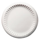 "Clay Coated Paper Plates, 8 5/8"", White, 125/Pack DXEMGVP09W"