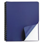 Grain Binding Covers, 11-1/4 x 8-3/4, Embossed Texture, Navy Blue, 25/Pack GBC9743554