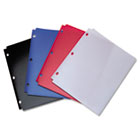 Snapper Twin Pocket Poly Folder, 8-1/2 x 11, Assorted Colors ACC40023