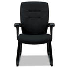 Synopsis Series Guest Arm Chair With Sled Base, Black GLB5092BKS110
