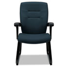 Synopsis Series Guest Arm Chair With Sled Base, Sapphire GLB5092BKS106