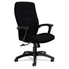 Synopsis Series High-Back Tilter Chair, Black Arms/Base, Black Fabric GLB50904BKS110