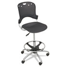 Circulation Stool, Polypropylene Back/Seat, Black BLT34643