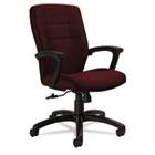 Synopsis Series Medium-Back Tilter Chair, Black Arms/Base, Cabernet Fabric GLB50914BKS101