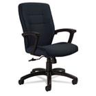 Synopsis Series Medium-Back Tilter Chair, Black Arms/Base, Sapphire Fabric GLB50914BKS106