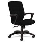 Synopsis Series Medium-Back Tilter Chair, Black Arms/Base, Black Fabric GLB50914BKS110