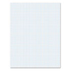 15lb Quadrille Pad w/4 Squares/Inch, Letter, White, 1 50-Sheet Pad/Pack TOP22030C