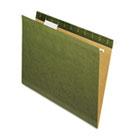 X-Ray Hanging File Folders, 1/5 Tab, Letter, Standard Green, 25/Box PFX415215