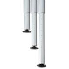 OfficeWorks Freestyle Table Adjustable Height Leg Set, Silver/Chrome, Pair ICE68140